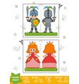 education paper crafts for children knight and vector image vector image