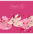 Elegant Valentine love floral postcard vector image vector image