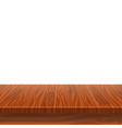 empty wooden table for product placement vector image