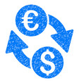 euro dollar change grunge icon vector image vector image