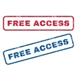 Free Access Rubber Stamps vector image vector image