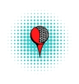Golf ball on a tee icon comics style vector image vector image