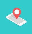 gps navigation app on mobile phone isometric vector image