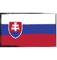 grunge slovakia flag or banner vector image