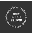 Halloween lettering greeting card background vector image vector image