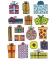 hand drawn gifts vector image