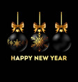 happy new year 2018 postcard with stylish vector image vector image