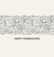 happy thanksgiving banner concept vector image vector image