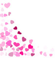 hearts confetti flying background graphic design vector image