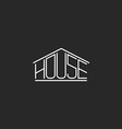 House logo hipster monogram lettering graphic word
