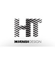 ht h t lines letter design with creative elegant vector image vector image