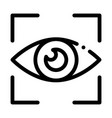 human eye scanning icon outline vector image vector image