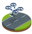 isometric modern futuristic air passenger vector image vector image