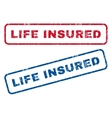 Life Insured Rubber Stamps vector image vector image