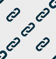 link icon sign Seamless pattern with geometric vector image