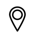Map pointer or pin marker icon outline modern