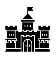 medieval castle glyph icon vector image