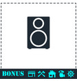 music column icon flat vector image vector image