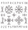 mystical viking runes ancient pagan talisman vector image