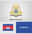 national emblem and flag vector image vector image