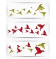 Origami japan paper flying bird vector image