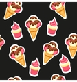 Pattern Ice Cream and Cupcake vector image vector image