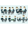 People working at the desk vector image vector image