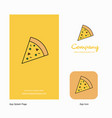 pizza company logo app icon and splash page vector image vector image