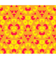 red orange yellow color abstract geometric vector image vector image