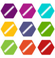 ruler icon set color hexahedron vector image vector image