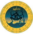 sagittarius with the signs of the zodiac vector image vector image