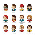 set of round people icons your office team vector image vector image