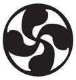 solar cross tattoo artwork vector image vector image