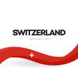 switzerland waving flag banner swiss vector image vector image