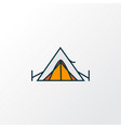 tent icon colored line symbol premium quality vector image vector image