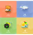 Travel concepts set vector image