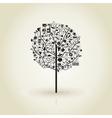Tree a beach vector image vector image