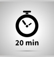 twenty minutes timer simple black icon vector image
