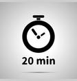 twenty minutes timer simple black icon vector image