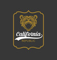 vintage california republic bear with sunbursts vector image vector image