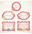 vintage labels with flowers vector image