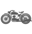 Vintage Motorcycle Isolated vector image vector image