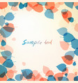 warm background of leaves with space for text vector image vector image