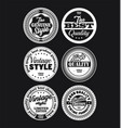 white and black vintage labels collection 3 vector image vector image