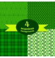 set of 4 seamless backgrounds vector image