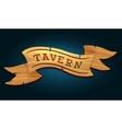 Tavern wooden signboard vector image