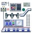 Metro station vector image