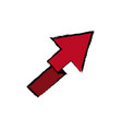 arrow direction location up image vector image