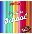 Back to School Sale Design EPS 10 vector image vector image