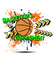 background abstract basketball ball from blots vector image vector image